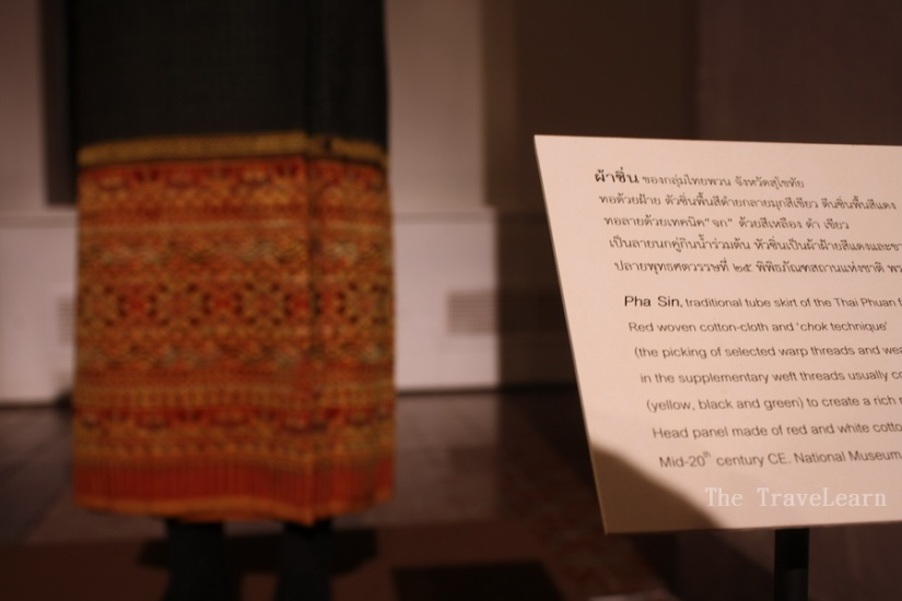 Pha Sin, one of Thai traditional costumes - Bangkok National Museum