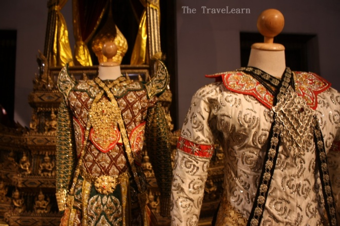 Thai traditional costumes for dancers, Bangkok National Museum