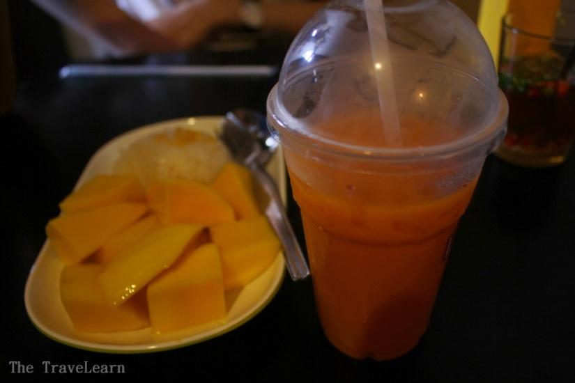 Mango Sticky Rice and Thai Tea
