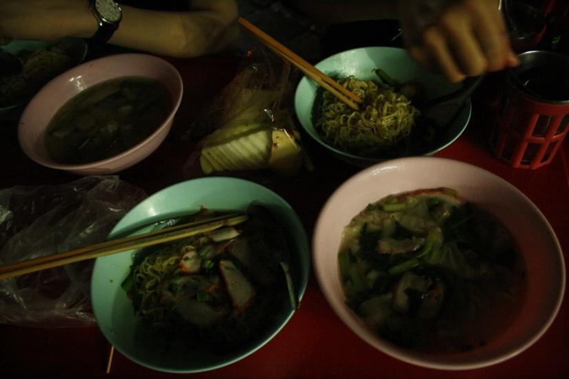Our dinner: Thai Pork Noodle