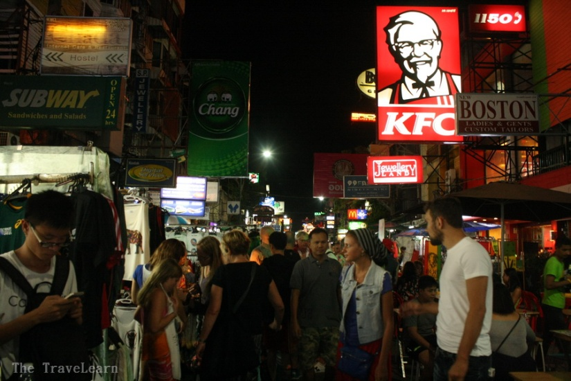 The famous Khaosan Road