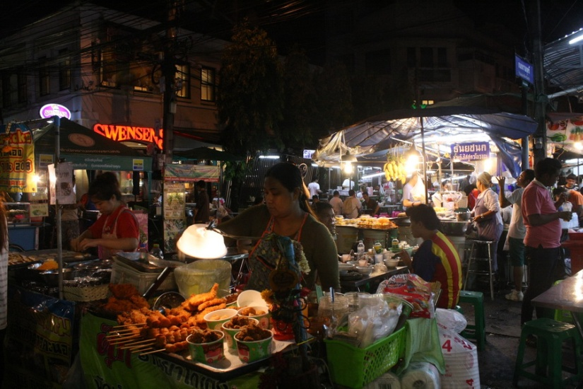 Street foods at Khaosan Road