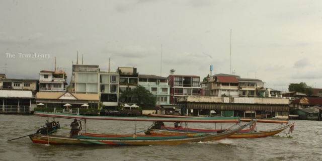 The public boats and Chao Praya River, Bangkok