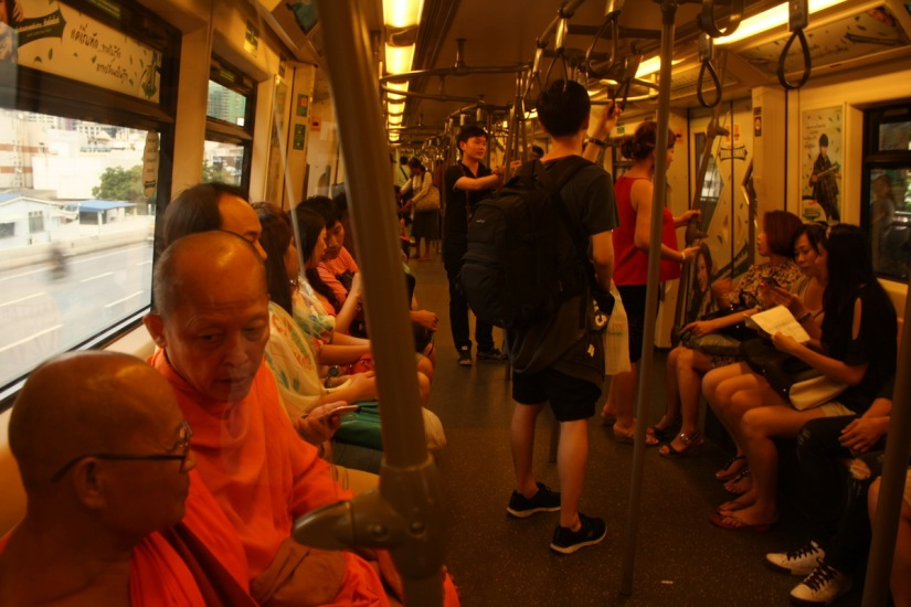 Inside the BTS (Skytrain) Bangkok