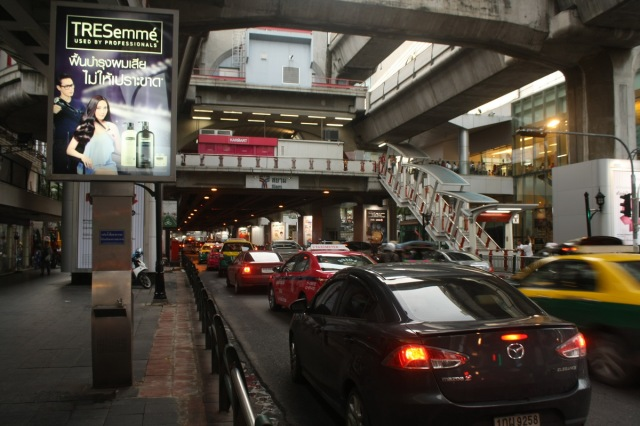 Traffic jam is common in Siam