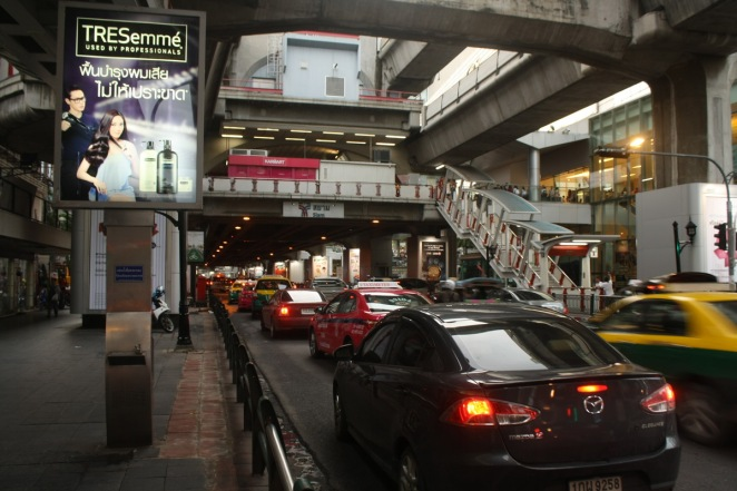 Traffic jam is common in Siam