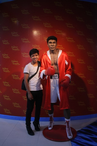 "With ""Muhammad Ali"" at Siam Paragon, Bangkok"