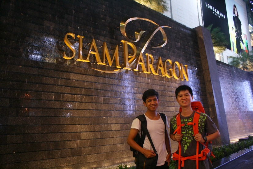 With koh Donny in front of Siam Paragon mall