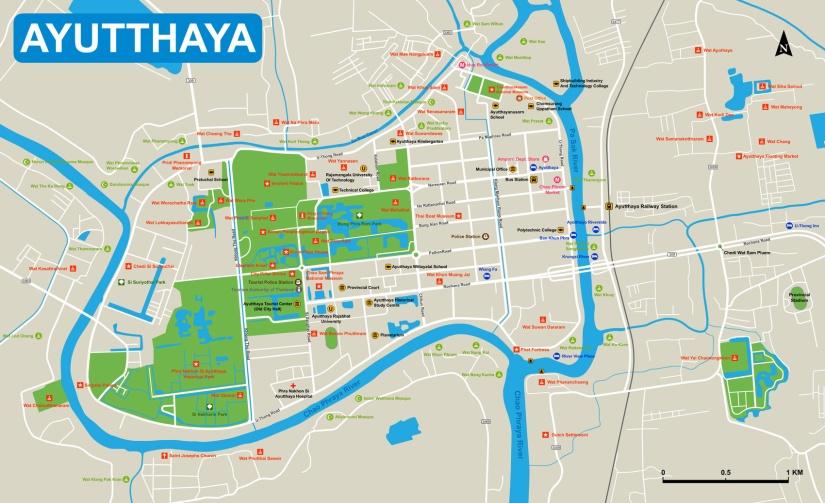 Ayutthaya Tourism Map