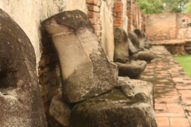 Headless Buddha images at Wat Mahathat, Ayutthaya