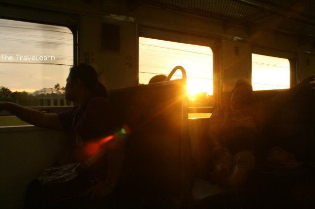 Taking an economy train from Bangkok's Hualamphong Station to Aranyaprathet