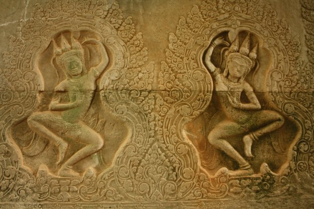 A relief at Angkor Wat, Siem Reap