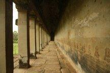 A gallery at Angkor Wat, Siem Reap
