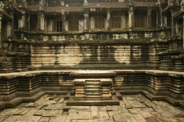 Inside a temple at Angkor Wat, Cambodia