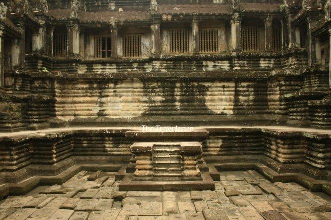 Inside a temple at Angkor Wat, Cambodia