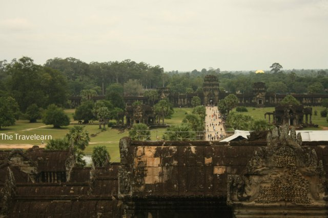 Panoramic view of Angkor from above