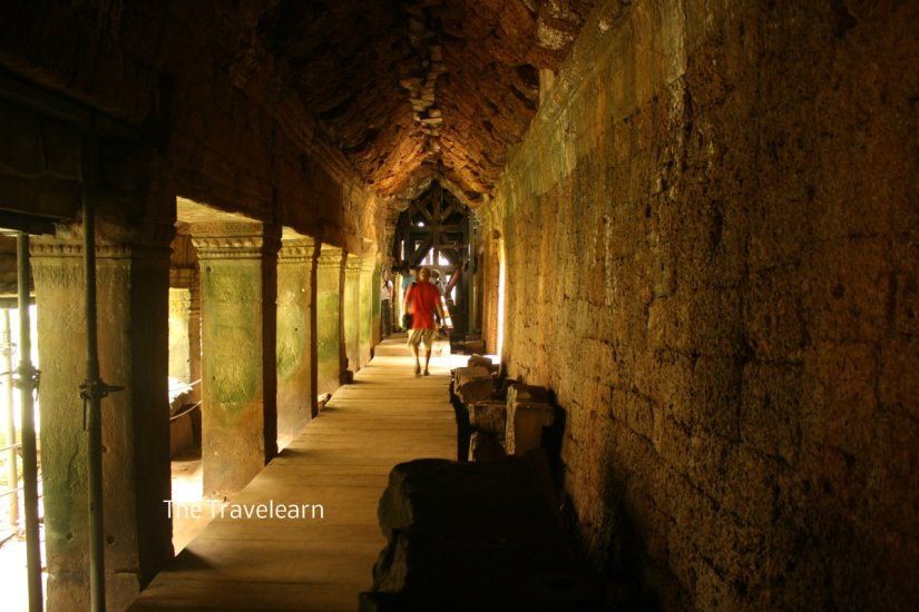 A corridor at Ta Prohm, Angkor