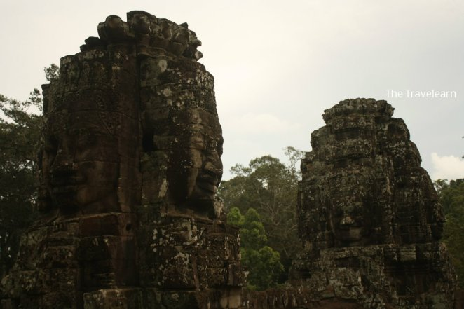 The iconic four-faces giant stone at Bayon