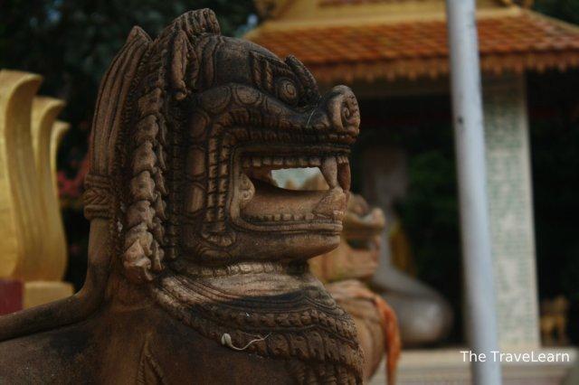 A mystical lion statue