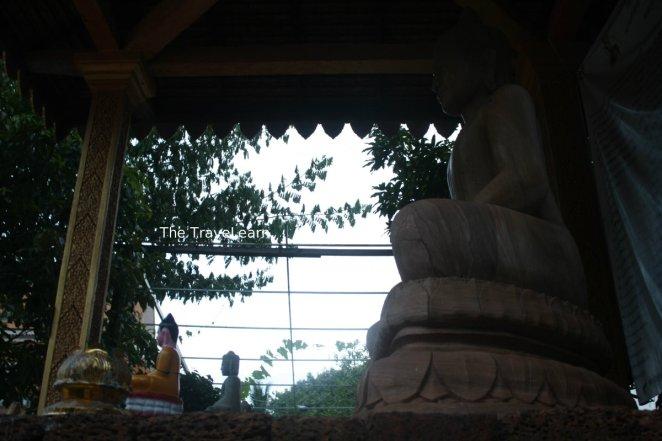 A Buddha image at Wat Thmey, Siem Reap