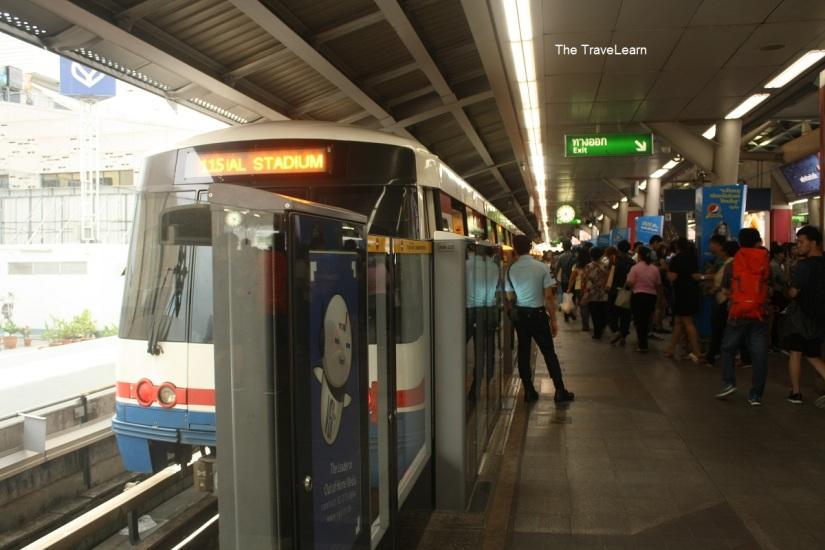 BTS (Skytrain) Silom Line Bangkok, Thailand