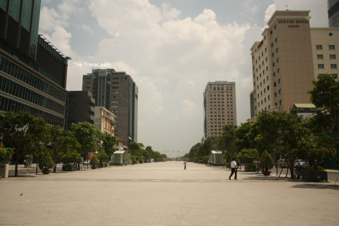 A large public space in front of the City Hall