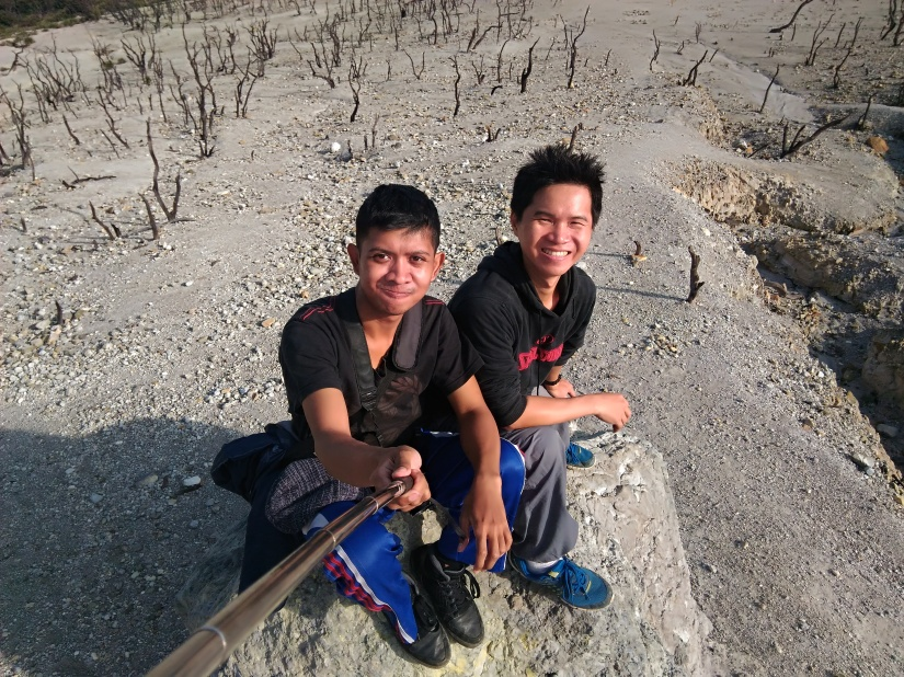 Selfie at Hutan Mati, Mount Papandayan