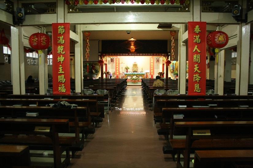 Inside the Gereja Katolik Santa Maria de Fatima