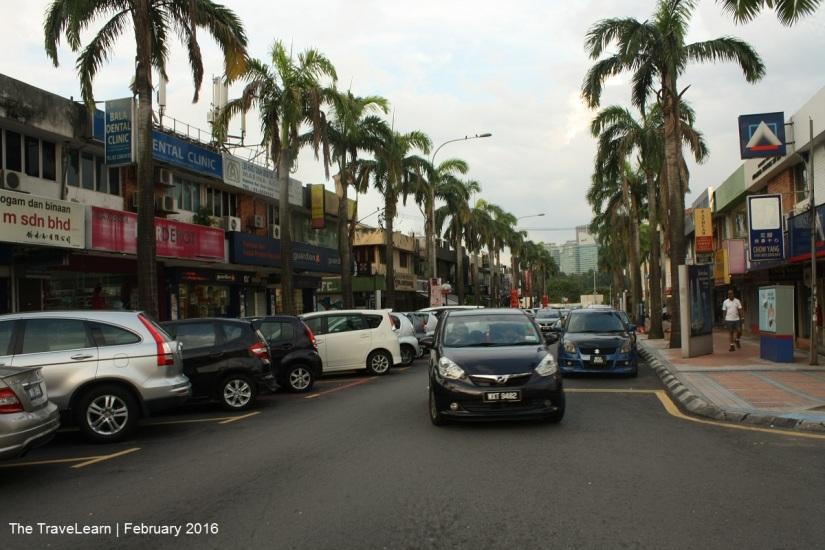 Suasana Jalan Bangsar di sore hari