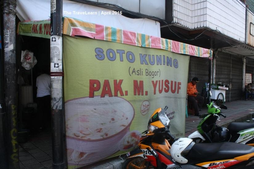 Soto Kuning Pak Yusuf, Bogor