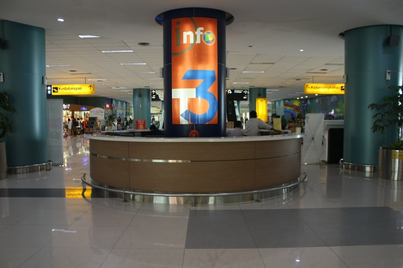 Information Center at the center of the terminal