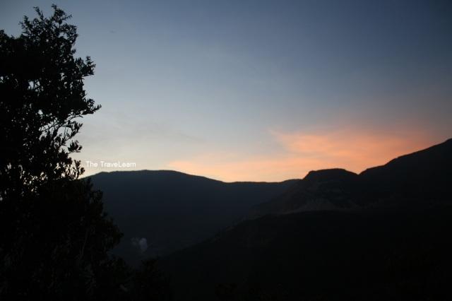 Senja dari Gunung Papandayan