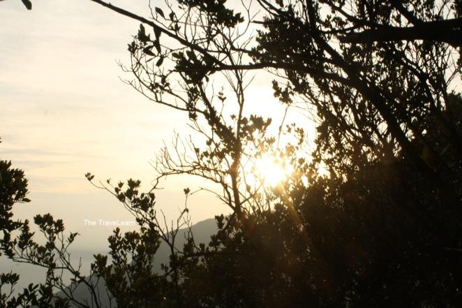 Mentari pagi yang menyapa kami di Gunung Papandayan