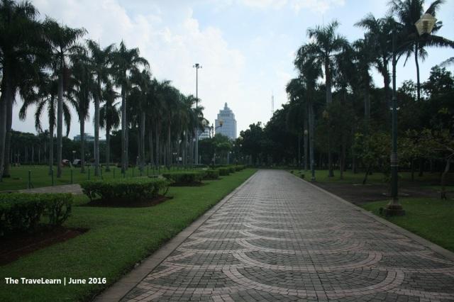 Green park and clean pedestrian in Monumen Nasional (Monas) Jakarta