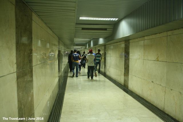 Entering the tunnel to Monumen Nasional (Monas), Jakarta