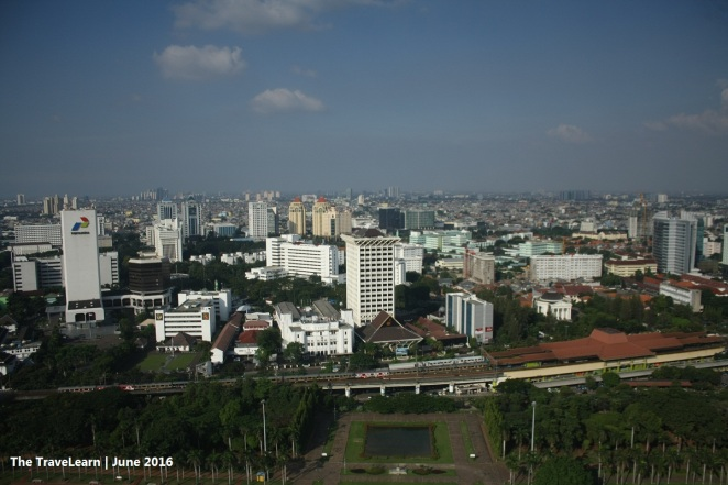 View from the top of Monumen Nasional (Monas), Jakarta