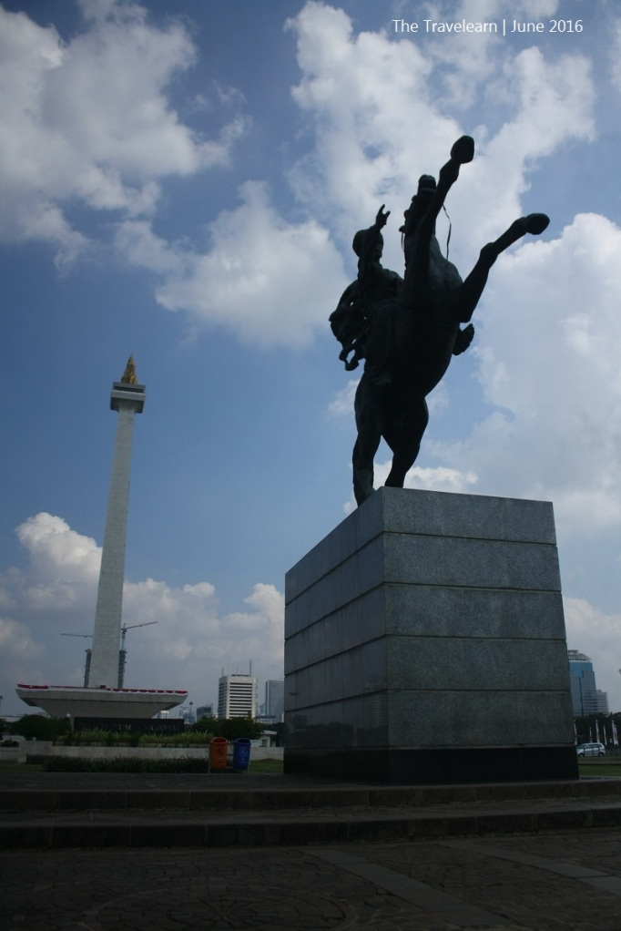 The National Monument (Monas, Monumen Nasional) and the statue