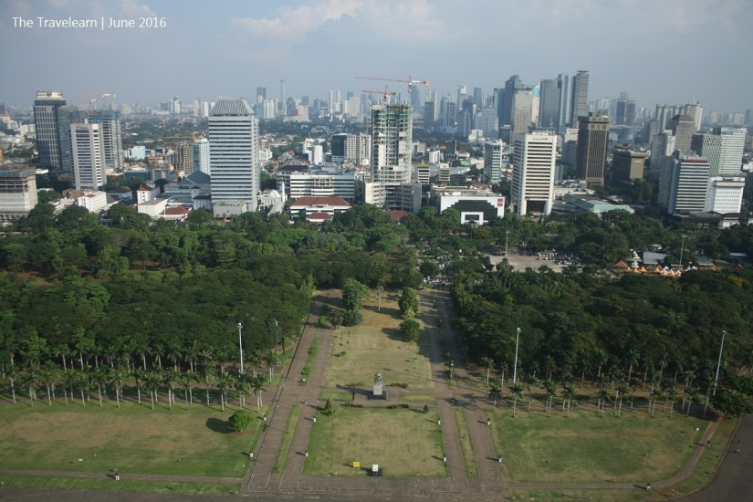 Skyscrapers of Jakarta, seen from the top of Monumen Nasional (Monas)