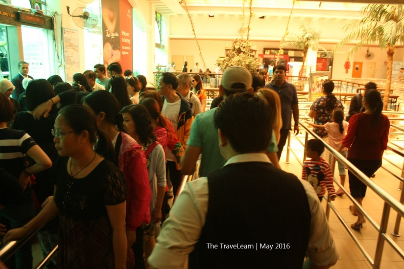 Queuing to enter the Genting Skyway cable car