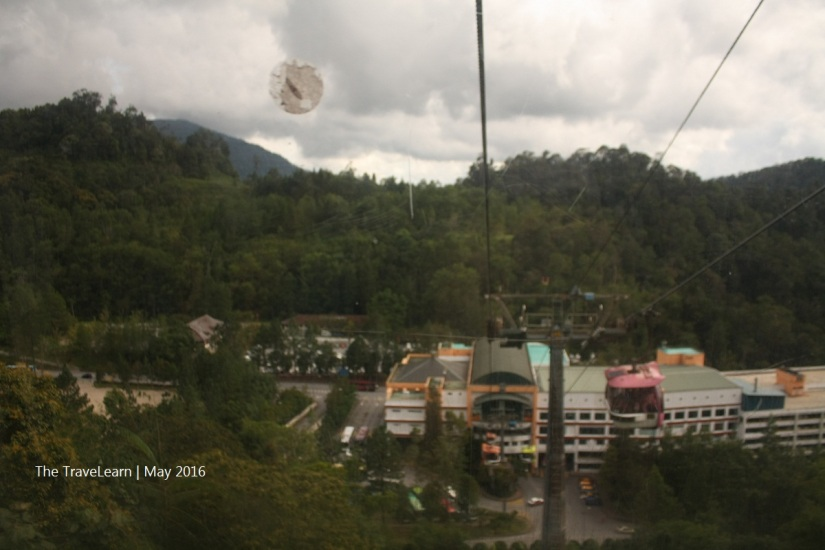 Genting Bus Terminal seen from above