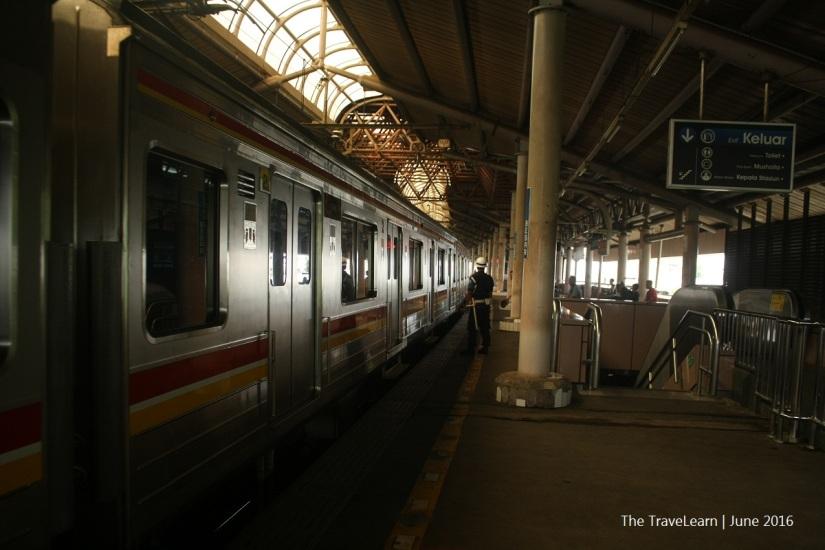 The platform, Sawah Besar Station
