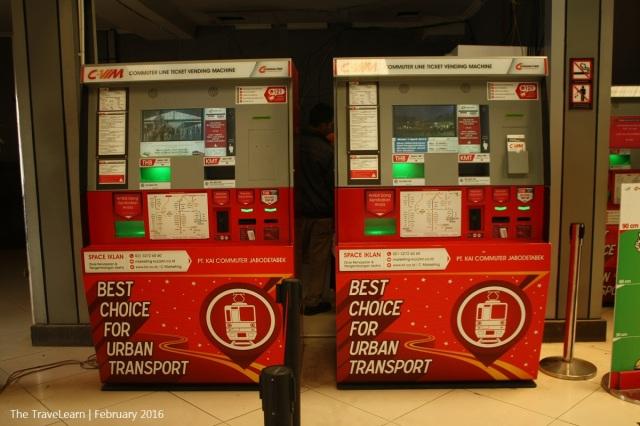 Ticketing machine, Sudirman Station