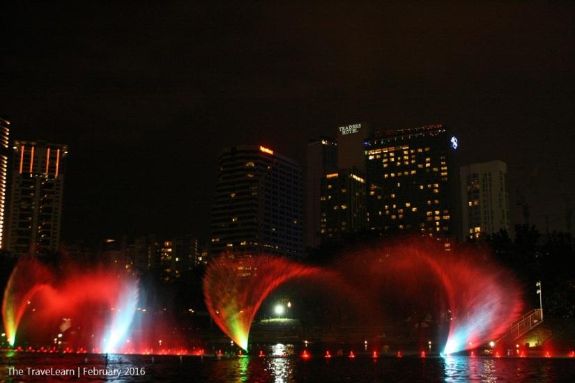 Dancing Fountain at Suria KLCC Park Kuala Lumpur