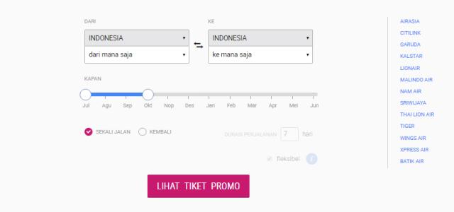 Laman Tiket Pesawat Promo Tiket2.com