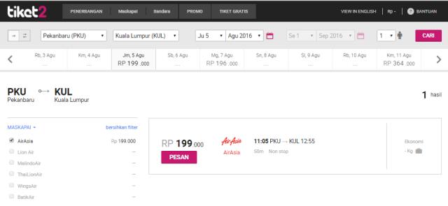 Sesuaikan tiket pesawat promo yang kamu inginkan