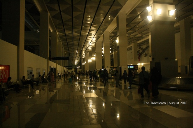 Walking towards Arrival Hall