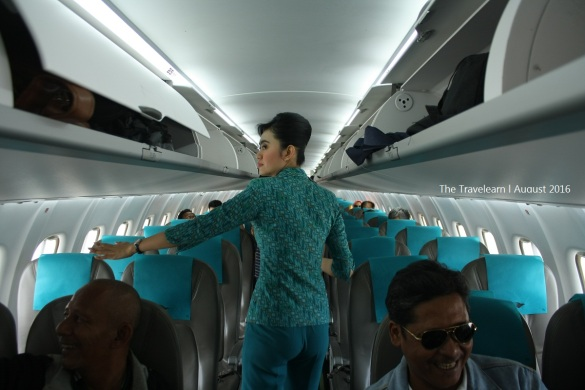 Di dalam pesawat ATR Garuda Indonesia Explore