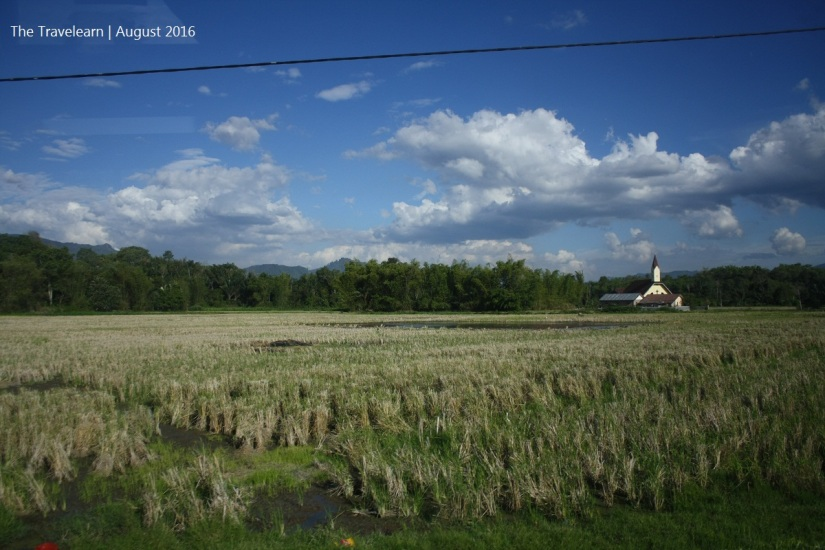 A small church in the middle of rice fields. Epic!