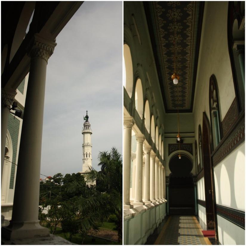 Masing-masing serambi (sayap) Masjid Raya Medan memiliki langit-langit tinggi dan kubah sendiri