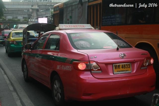 naik taksi di Bangkok, Thailand